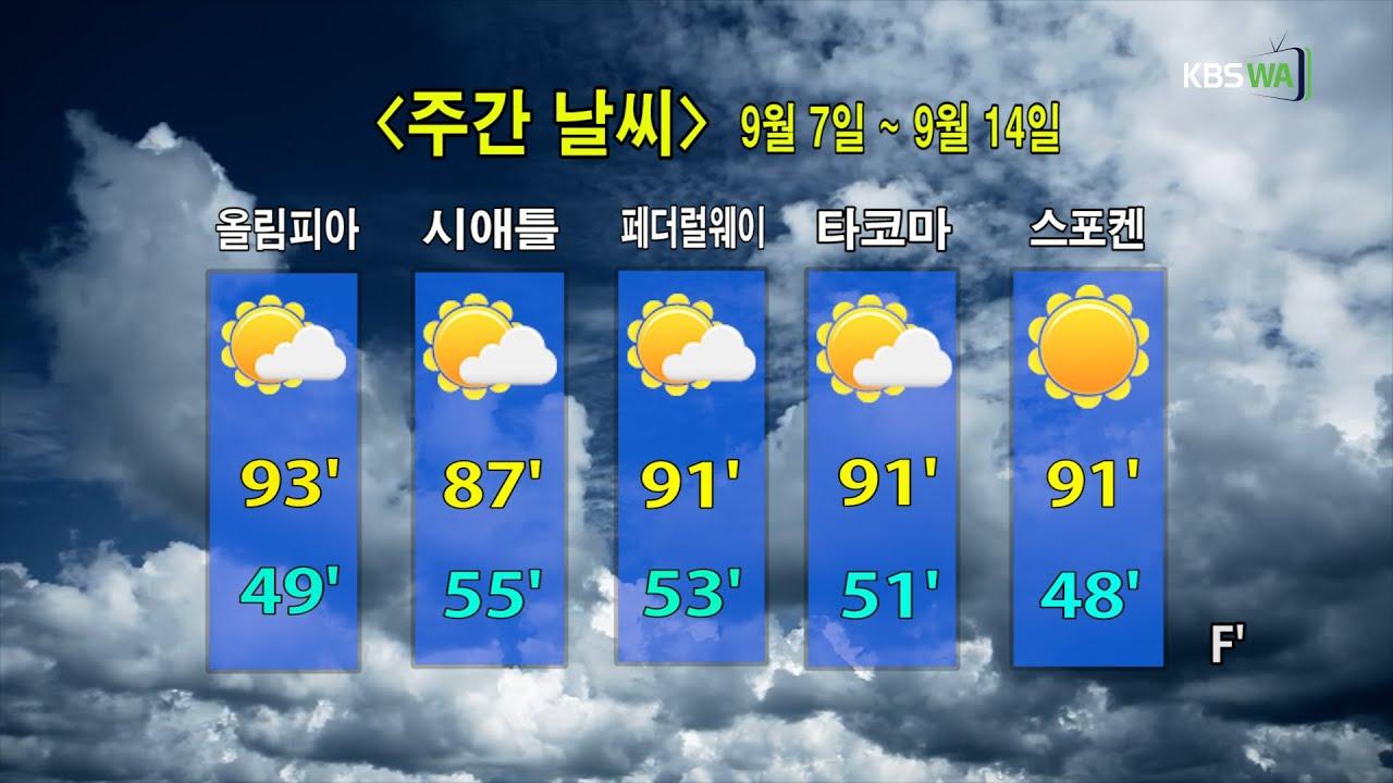 KBS-WATV 시애틀지역(서북미)한줄뉴스/ 주간날씨/ 뉴스게시판(20200907)