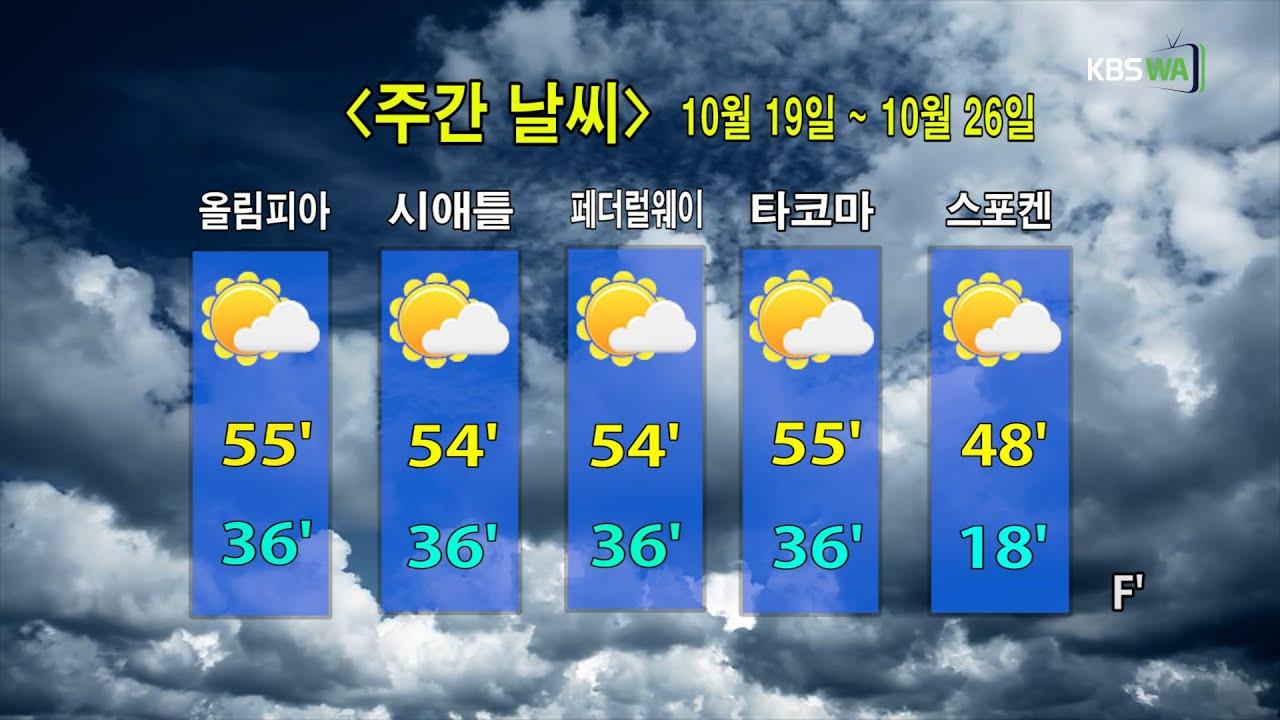 KBS-WATV 시애틀지역(서북미)한줄뉴스/ 주간날씨/ 뉴스게시판(20201019)