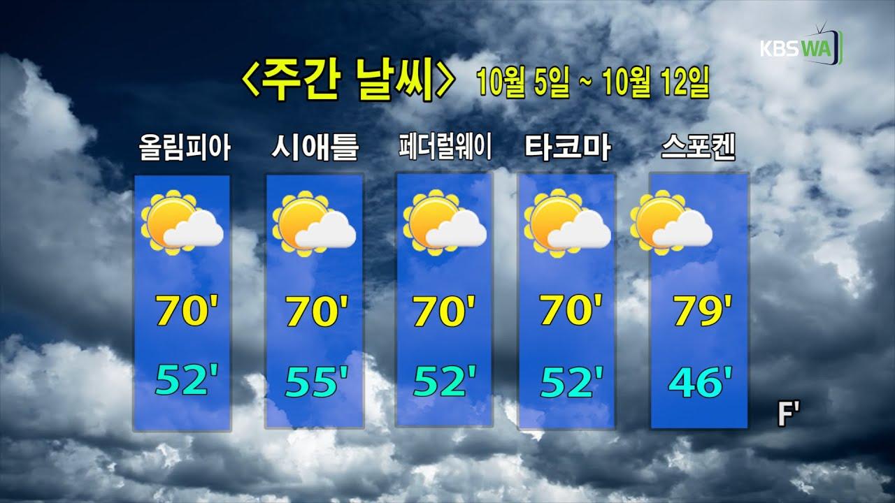 KBS-WATV 시애틀지역(서북미)한줄뉴스/ 주간날씨/ 뉴스게시판(20201005)