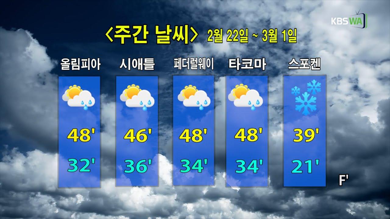 KBS-WATV 시애틀지역(서북미)한줄뉴스/ 주간날씨/ 뉴스게시판(20210222)