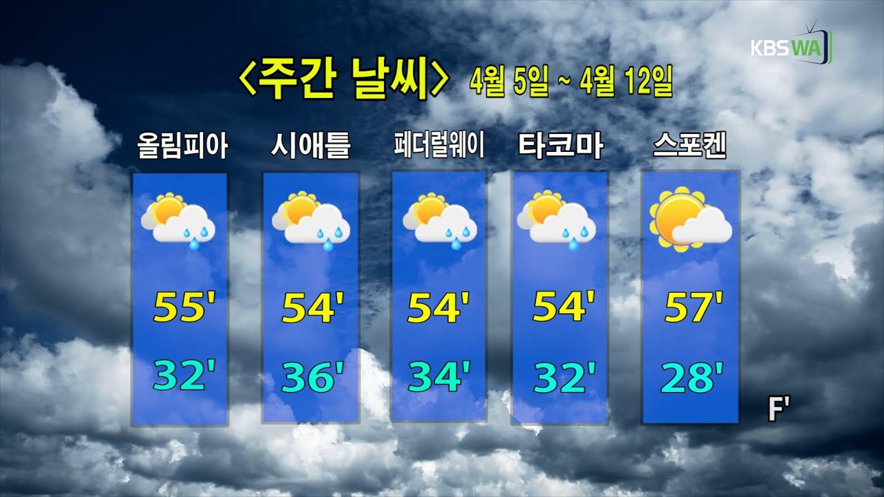 KBS-WATV 시애틀지역(서북미)한줄뉴스/ 주간날씨/ 뉴스게시판(20210405)