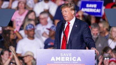 트럼프, 집회에서 지지자들한테 이말했다가 야유