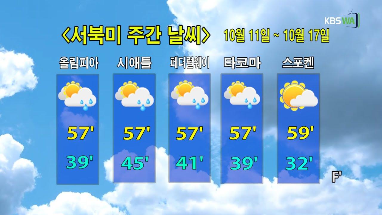 KBS-WATV시애틀지역(서북미) 한줄뉴스/ 서북미주간날씨/ 뉴스게시판(2021011)