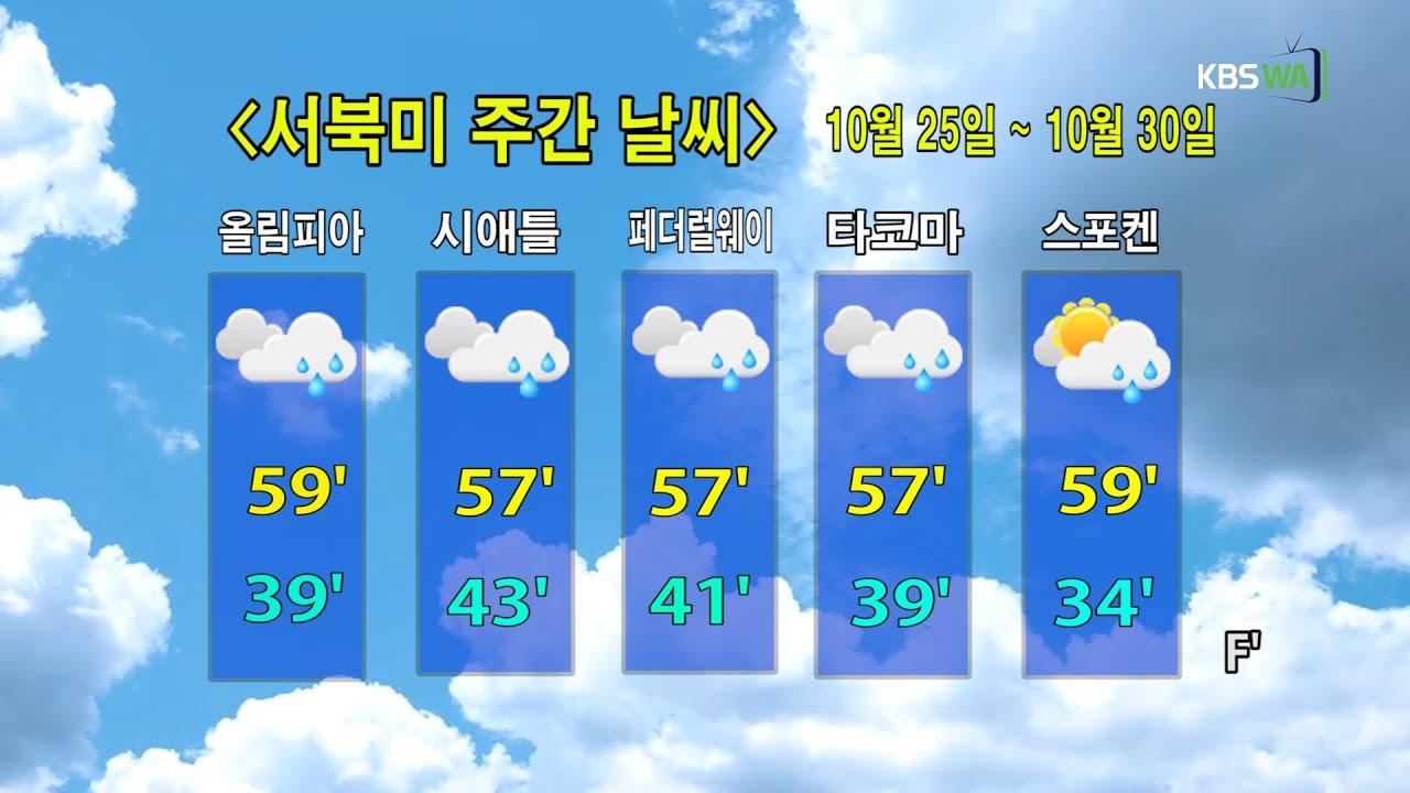 KBS-WATV시애틀지역(서북미) 한줄뉴스/ 서북미주간날씨/ 뉴스게시판(2021025)